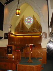Streetsville United Church Pulpit and Choir Loft